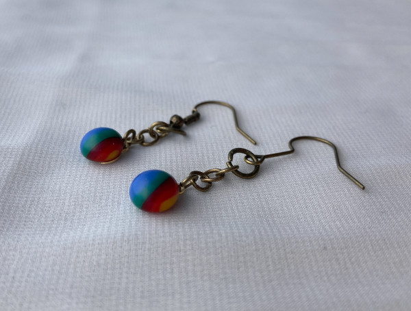 Fused Glass Earrings #34 by Shayna Heller