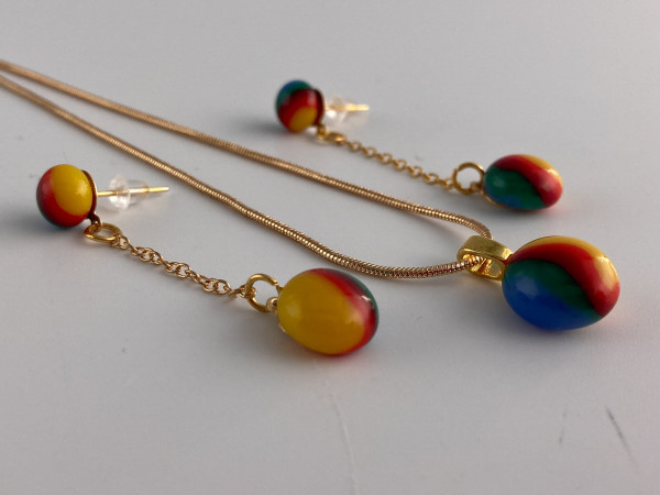 Pendant and earring set. #27 by Shayna Heller