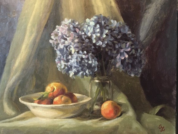 Peaches by Blue by Amy Lambrecht