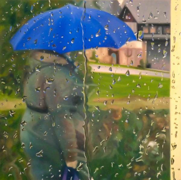 Blue Umbrella by Kristina Kanders