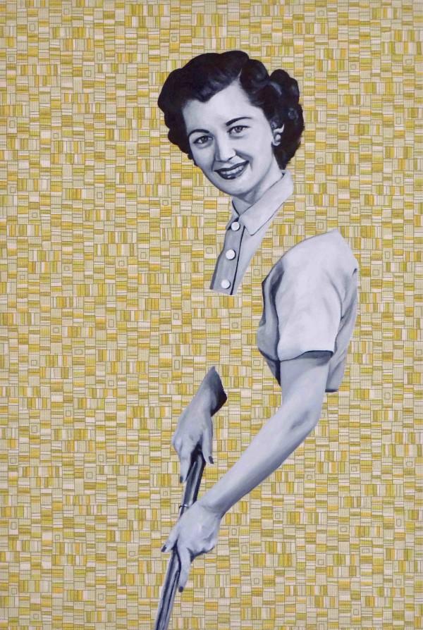 Martha Vacuuming by Kristina Kanders