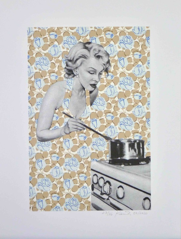 Screen Print Marilyn Cooking by Kristina Kanders