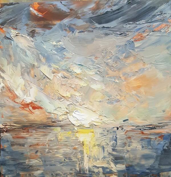 Sunset, Buzzards Bay by Heather Stivison