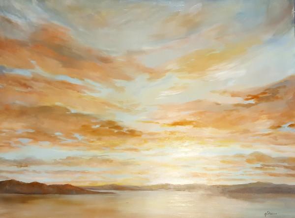 Non quitt Sunset by Heather Stivison