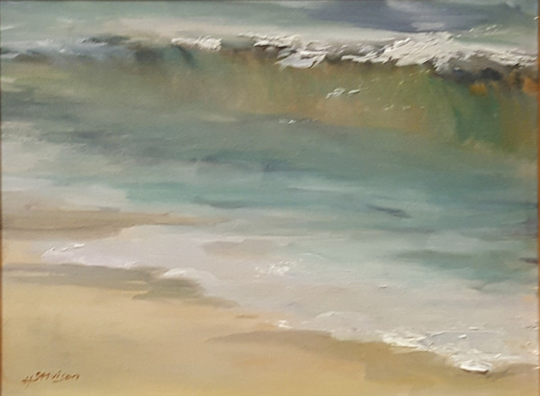 Atmospheric  8 - Green Wave by Heather Stivison