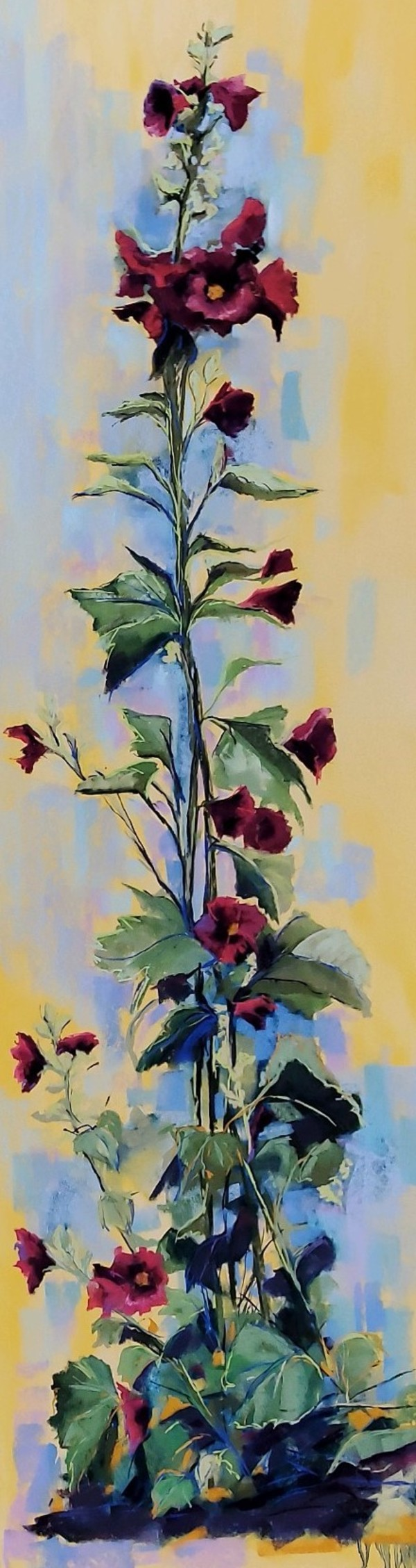 Hollyhocks by Renee Leopardi