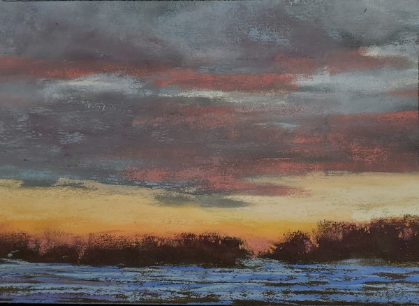Sunset Over Snow by Renee Leopardi