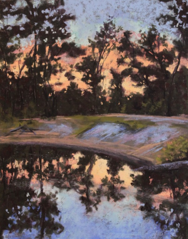 Wading Pines Sunset by Renee Leopardi