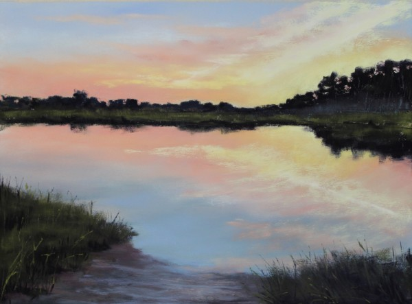 Sunset Over the Creek by Renee Leopardi