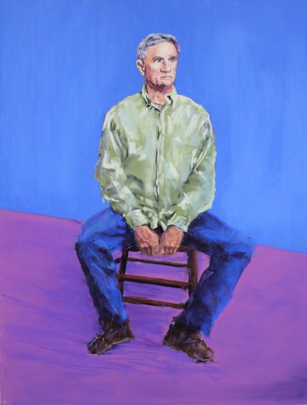 Tim, In the Manner of David Hockney by Renee Leopardi