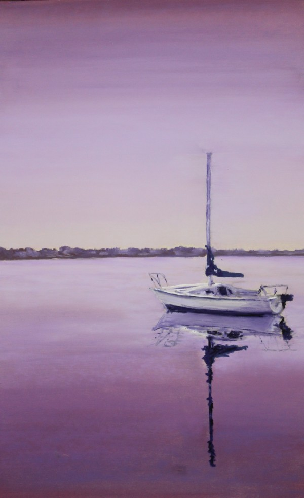 Sailing - Purple by Renee Leopardi