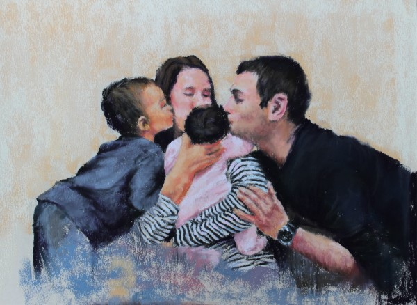 Family Portrait, Welcome New One by Renee Leopardi