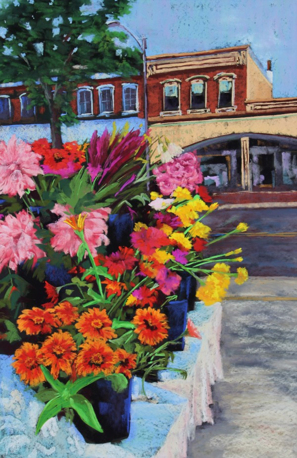 Farm Market Flowers by Renee Leopardi