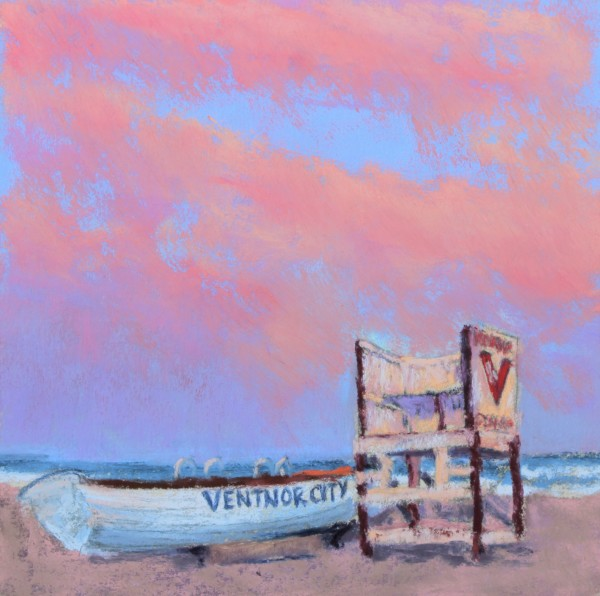 Sunset at Ventnor Beach by Renee Leopardi