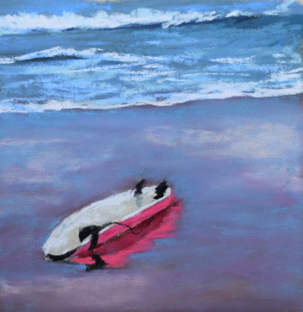 Pink Surfboard by Renee Leopardi