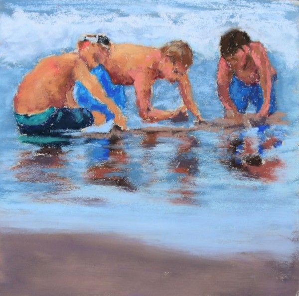 Digging for Sand Crabs #2 by Renee Leopardi