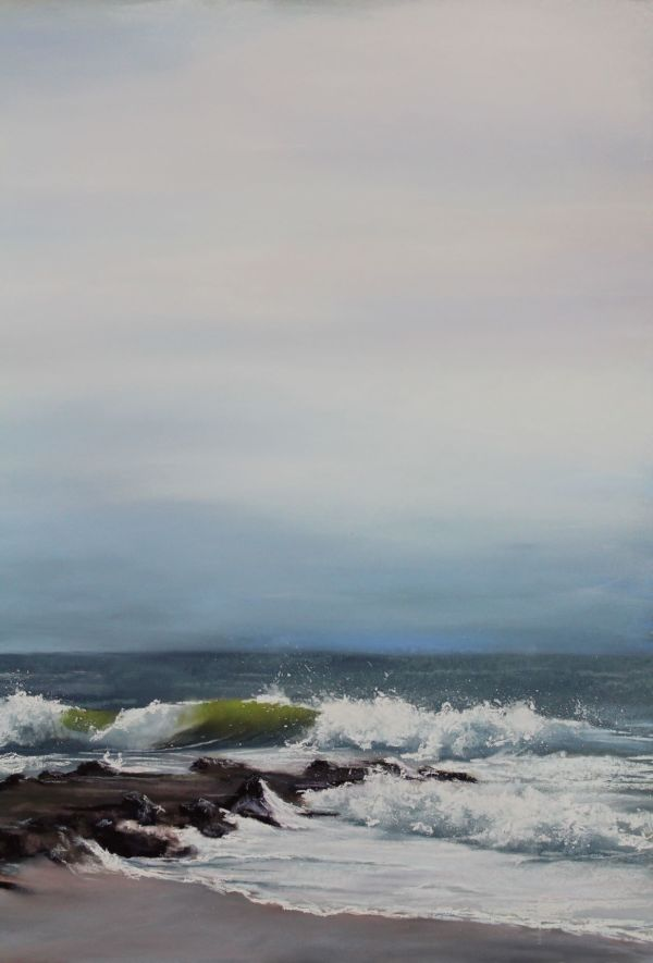 Waves Crashing on a Moody Day by Renee Leopardi