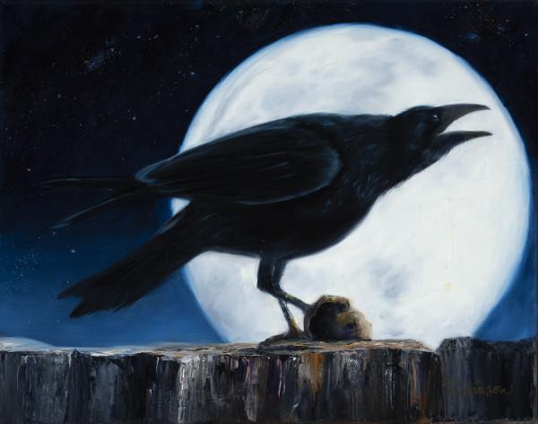 Moon Shadow Raven by Randy Robinson