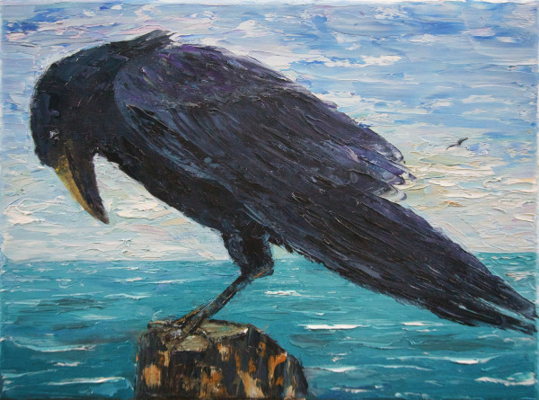 Raven by the Sea by Randy Robinson
