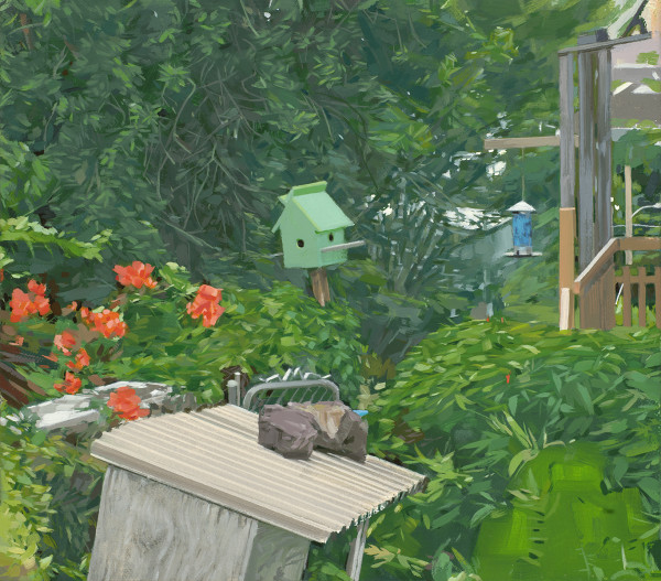 Birdhouse at Lum's, Manoa by Kalani Largusa