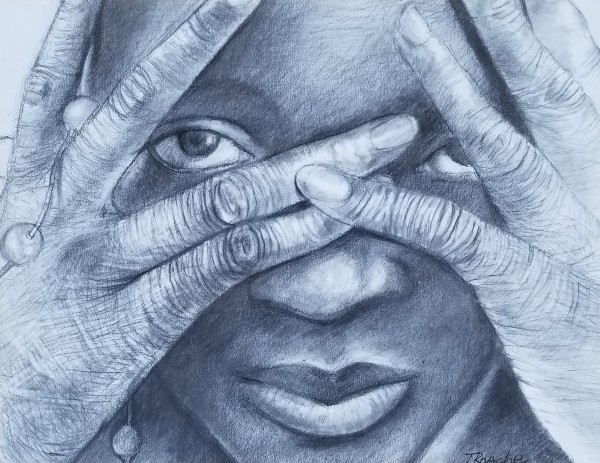 Woman With Her Hands In Front of Her Face by Joe Roache