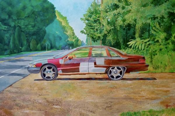 Car on Side of Highway 319 by Joe Roache
