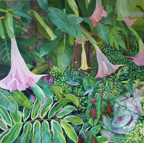 Bluebird in the Garden by Joe Roache