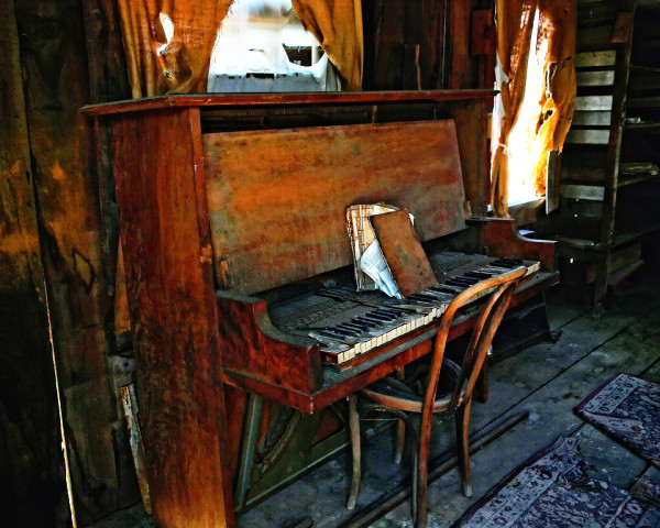 Ghost Town Piano by Mark Peacock