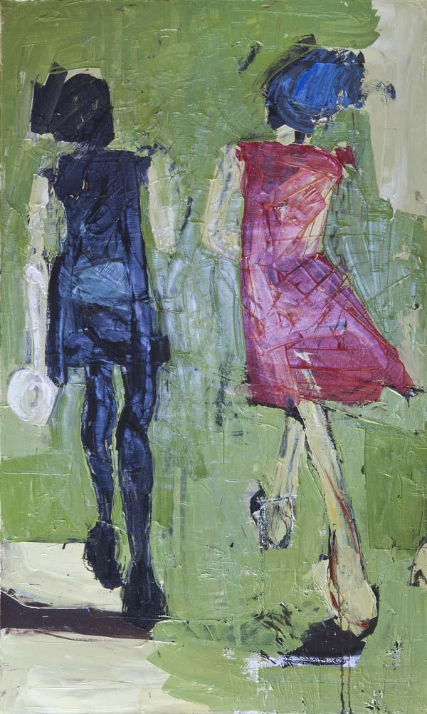 Women Walking by D Hake Brinckerhoff