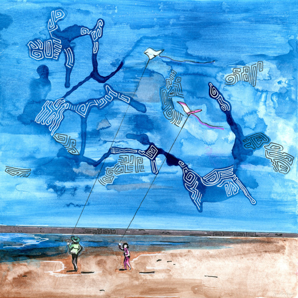 Kites on the Beach by Samantha Snyder