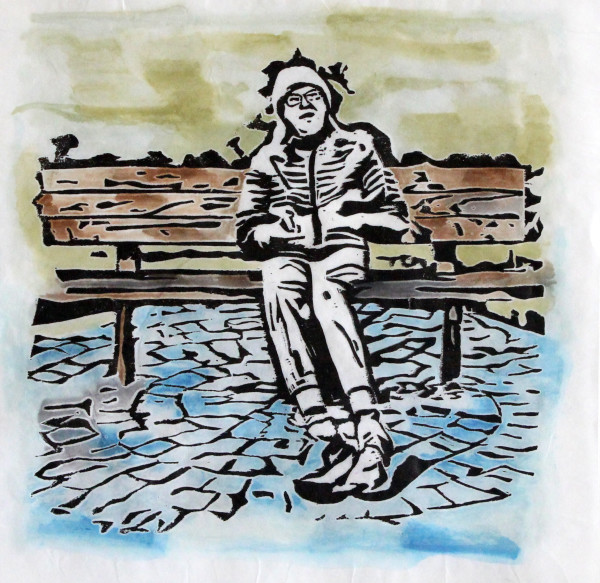 Wise Dude on a Bench by Samantha Snyder