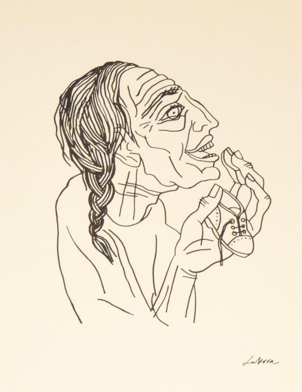 莎拉从圣经中的女性笑,创世纪18:1-15和创世纪21:1-7由卢巴·卢卡瓦
