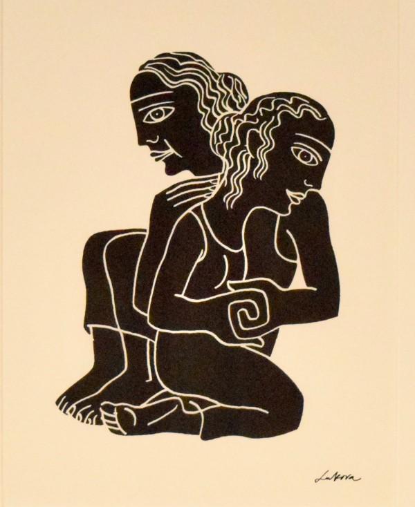 来自圣经中的女性的露丝和娜奥米,露丝1:16-17由卢巴卢卡瓦
