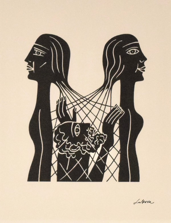 Leah和Rachel捕捉妇女在圣经中的女性,Genesis 29由Luba Lukova