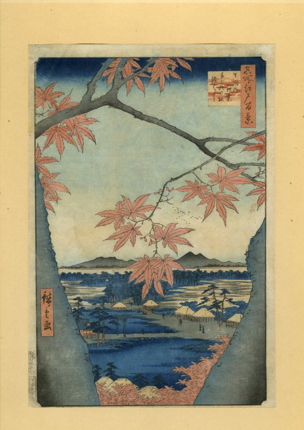 Maples at Mama by Utagawa Hiroshige