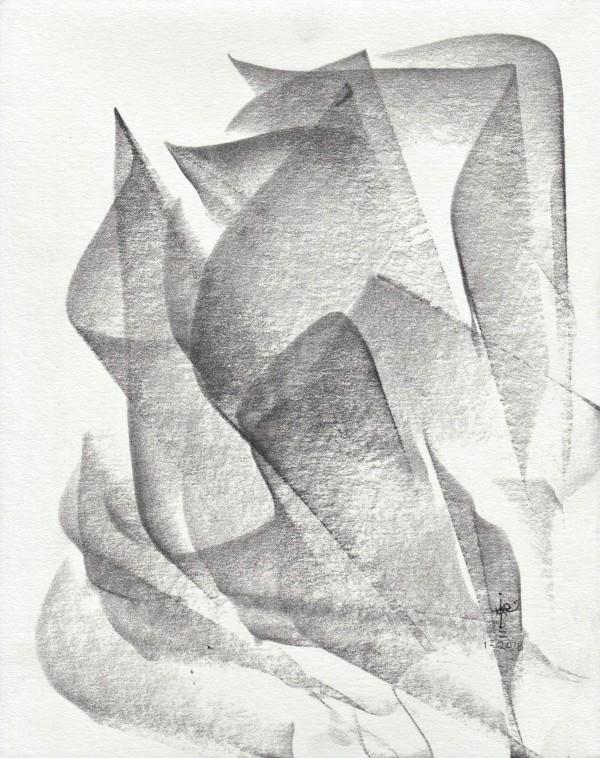 Obras en graphite_0066_Como una rosa 3 by Luis Ituarte