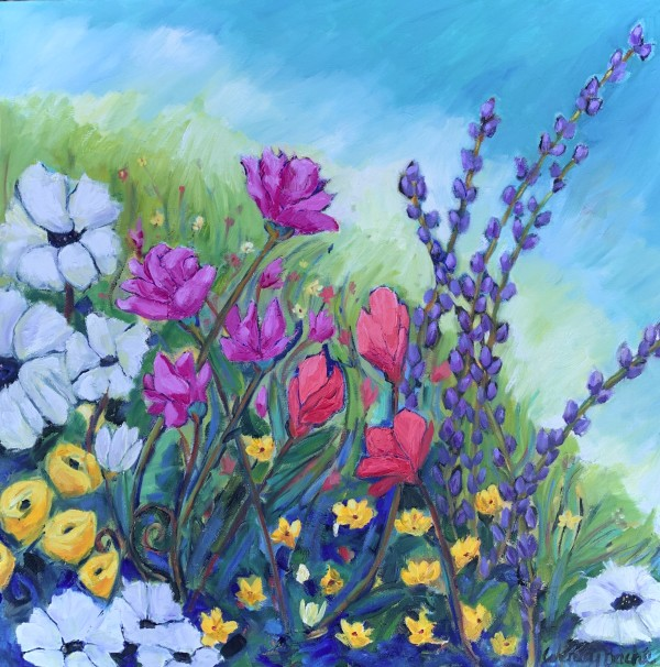 Birthday flowers by Wendy Bache