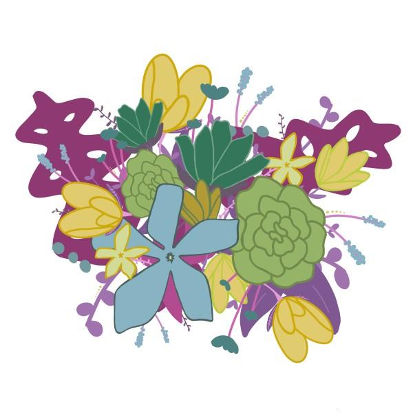 Floral Burst by Jennifer Crouch