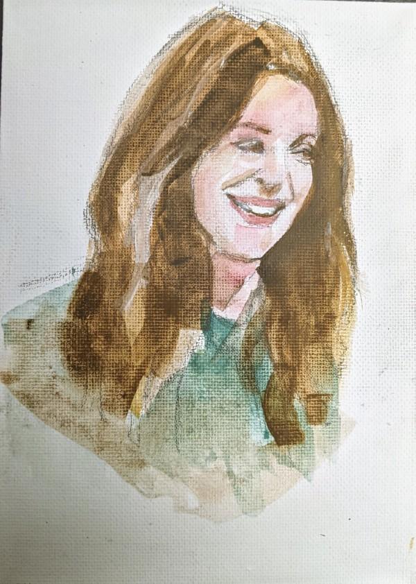 Drew Barrymore by Maria Kelebeev