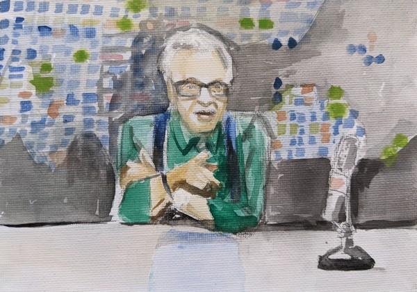 Larry King by Maria Kelebeev