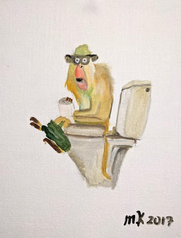 Having a Monkey by Maria Kelebeev