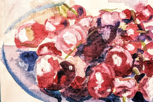 Cherries by Maria Kelebeev