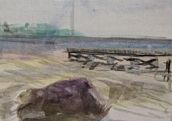 7th line beach by Maria Kelebeev