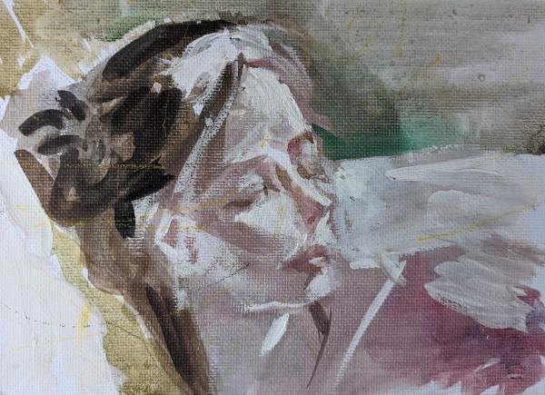 Sleeping Lady by Maria Kelebeev