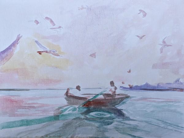 Boat date by Maria Kelebeev