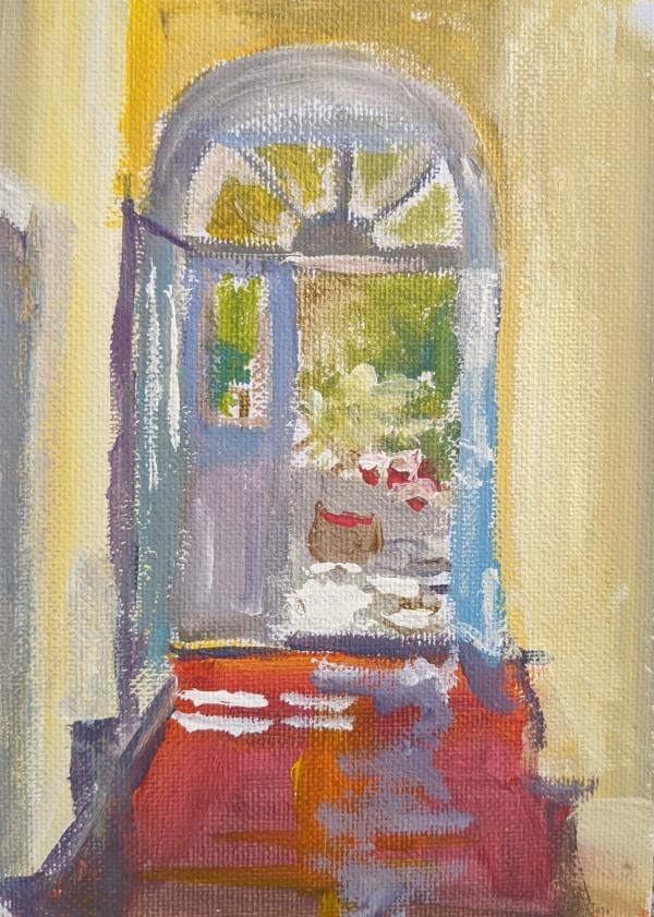 Yellow Hall by Maria Kelebeev