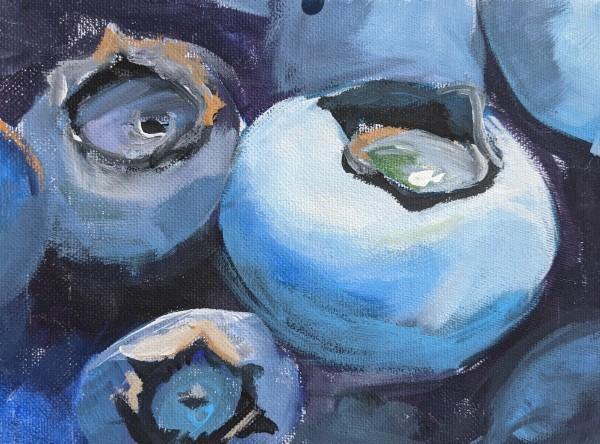 Bluebaries by Maria Kelebeev