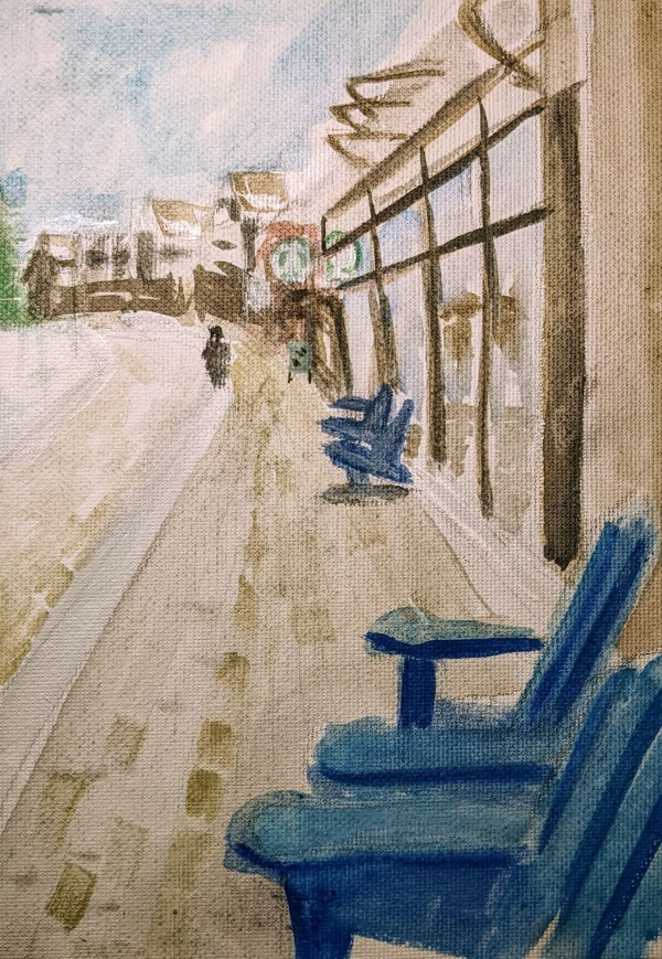 FH Blue Chairs L by Maria Kelebeev
