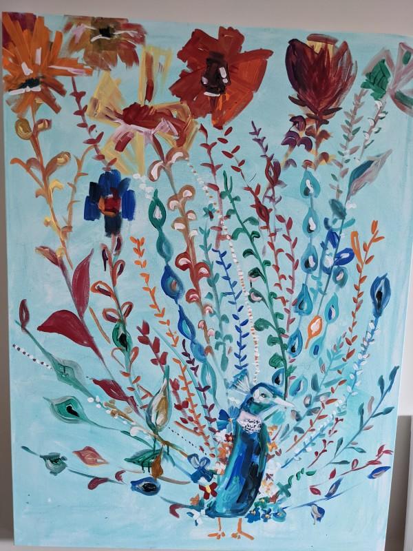 Peacock Luck by Maria Kelebeev