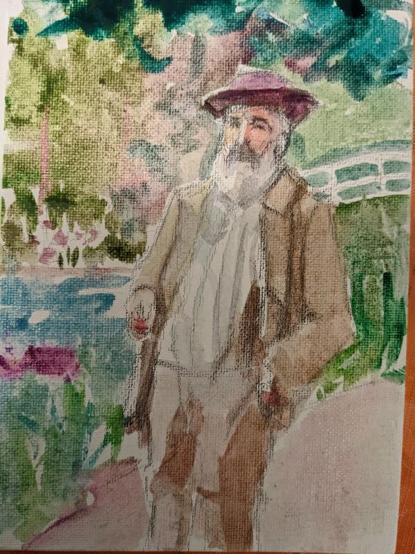 Claude Monet by Maria Kelebeev